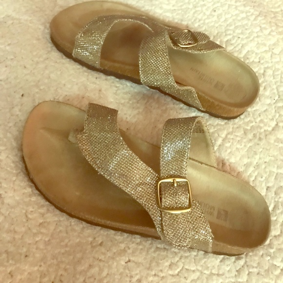 White Mountain Shoes   Glitter Sandals